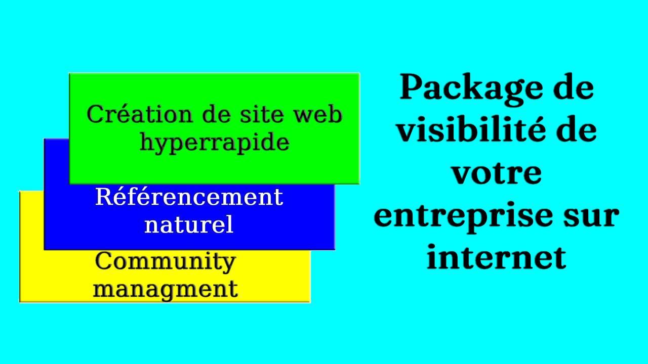 Le package de visibilité de votre entreprise sur internet